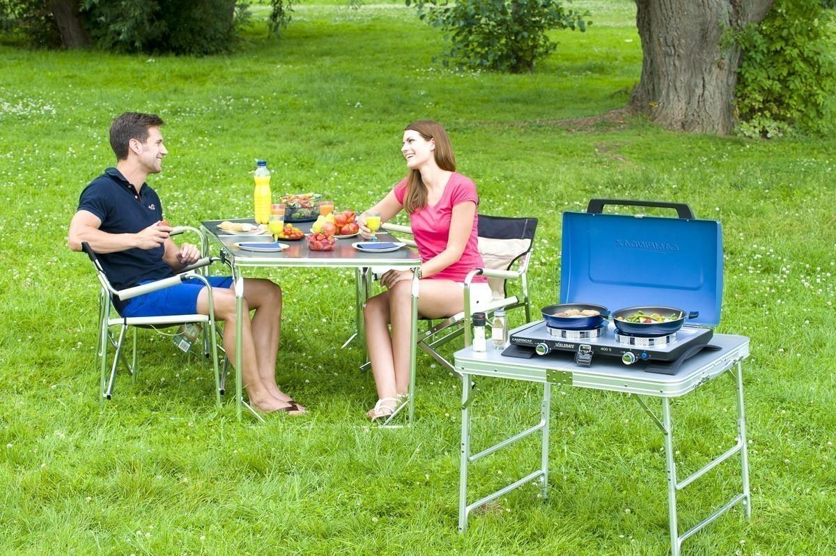 Campingaz Camping Gaskocher / Tischgrill 400 S 2-flammig mit Deckel Bild 3