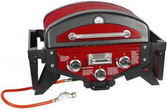 El Fuego Gasgrill / Tischgrill Medison rot Grillfläche 49x33,5cm Bild 2