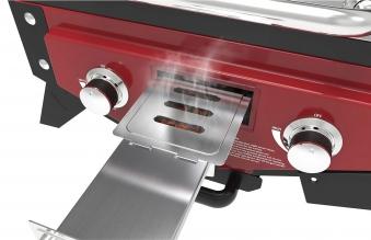 El Fuego Gasgrill / Tischgrill Medison rot Grillfläche 49x33,5cm Bild 8