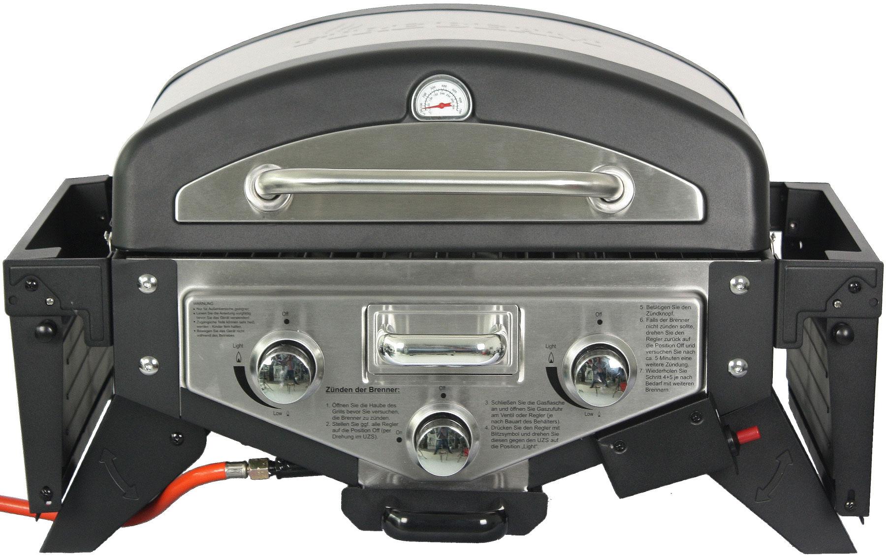 El Fuego Gasgrill / Tischgrill Medison silber Grillfläche 49x33,5cm Bild 4