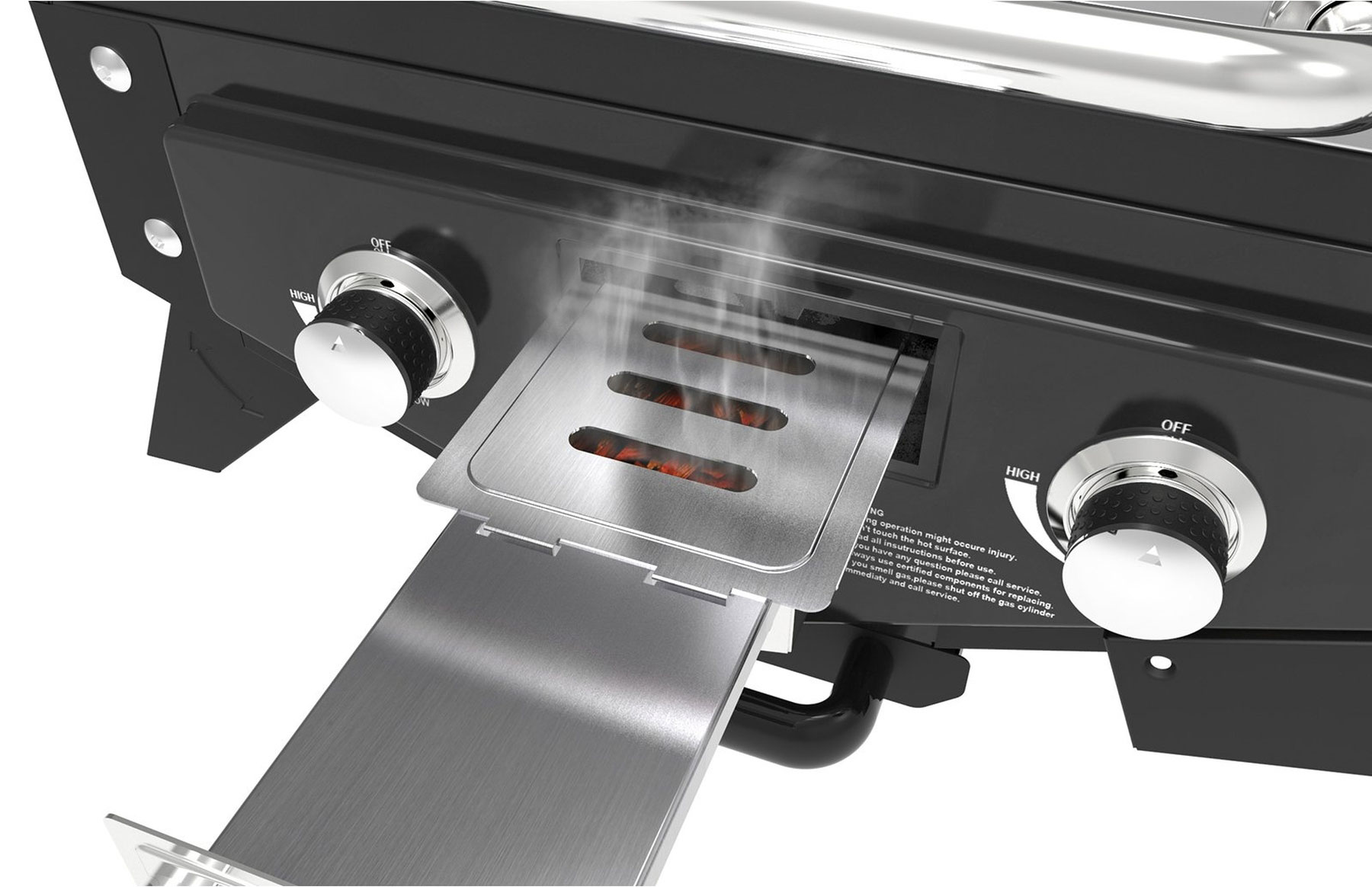 El Fuego Gasgrill / Tischgrill Medison silber Grillfläche 49x33,5cm Bild 8