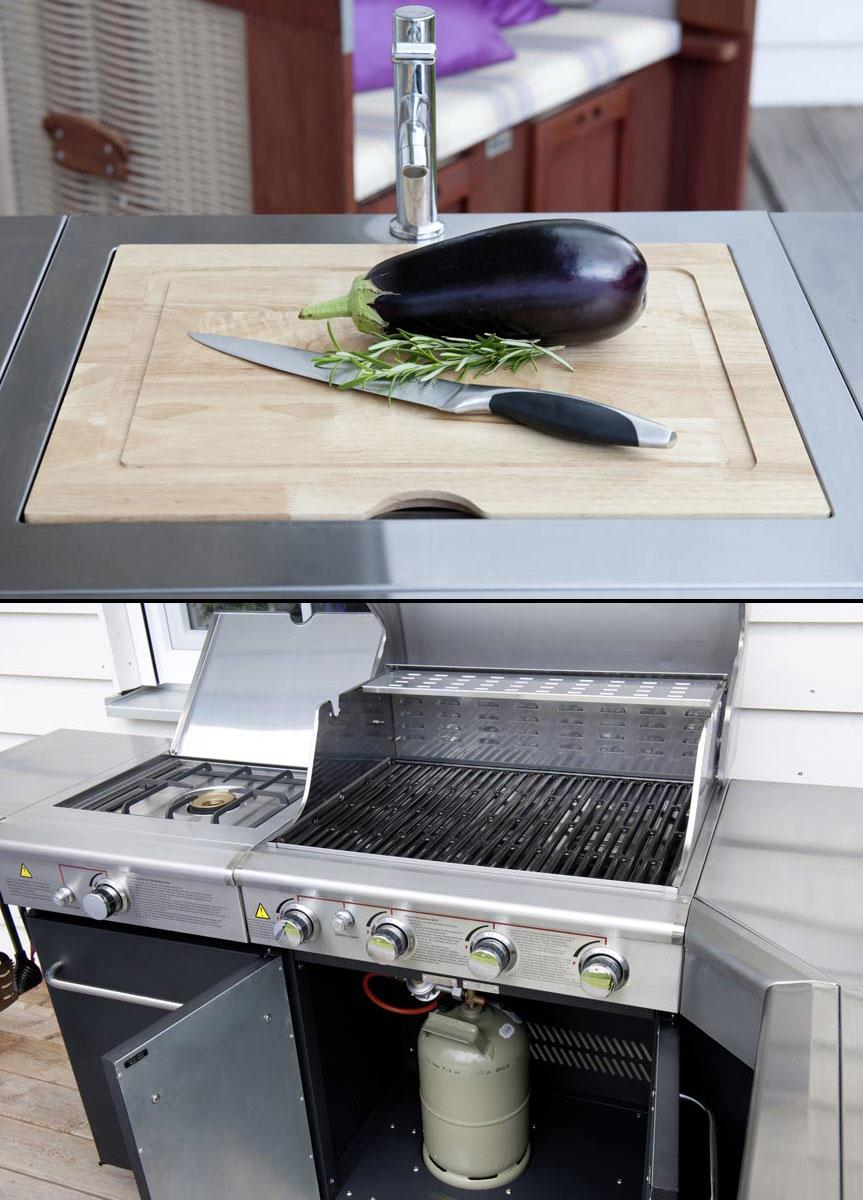 Gasgrill / Gasgrillküche / Outdoor Küche Activa Dallas Fahrbar 64x46cm ...