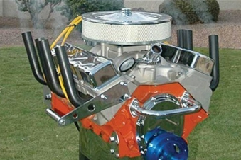 Hot Rod V8 Gas-Grill / Motor Grill BBQ Bild 1