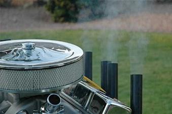 Hot Rod V8 Gas-Grill / Motor Grill BBQ Bild 2