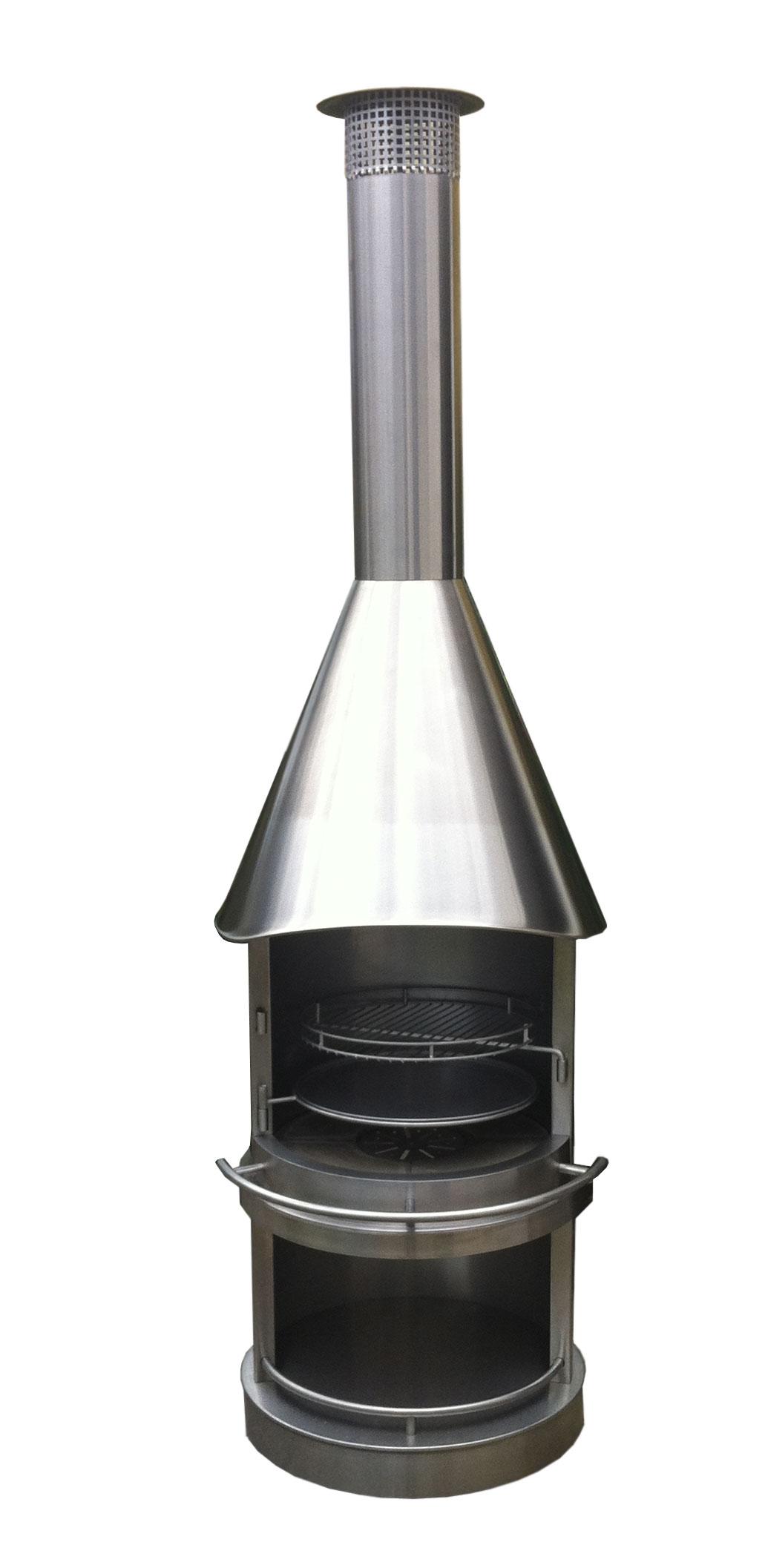gartenkamin grillkamin firestar edelstahl exklusiv edelstahl dn 800 bei. Black Bedroom Furniture Sets. Home Design Ideas