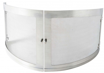 Funkenschutztüre für asado Gartenkamin Gran Fuego ES Edelstahl Bild 1