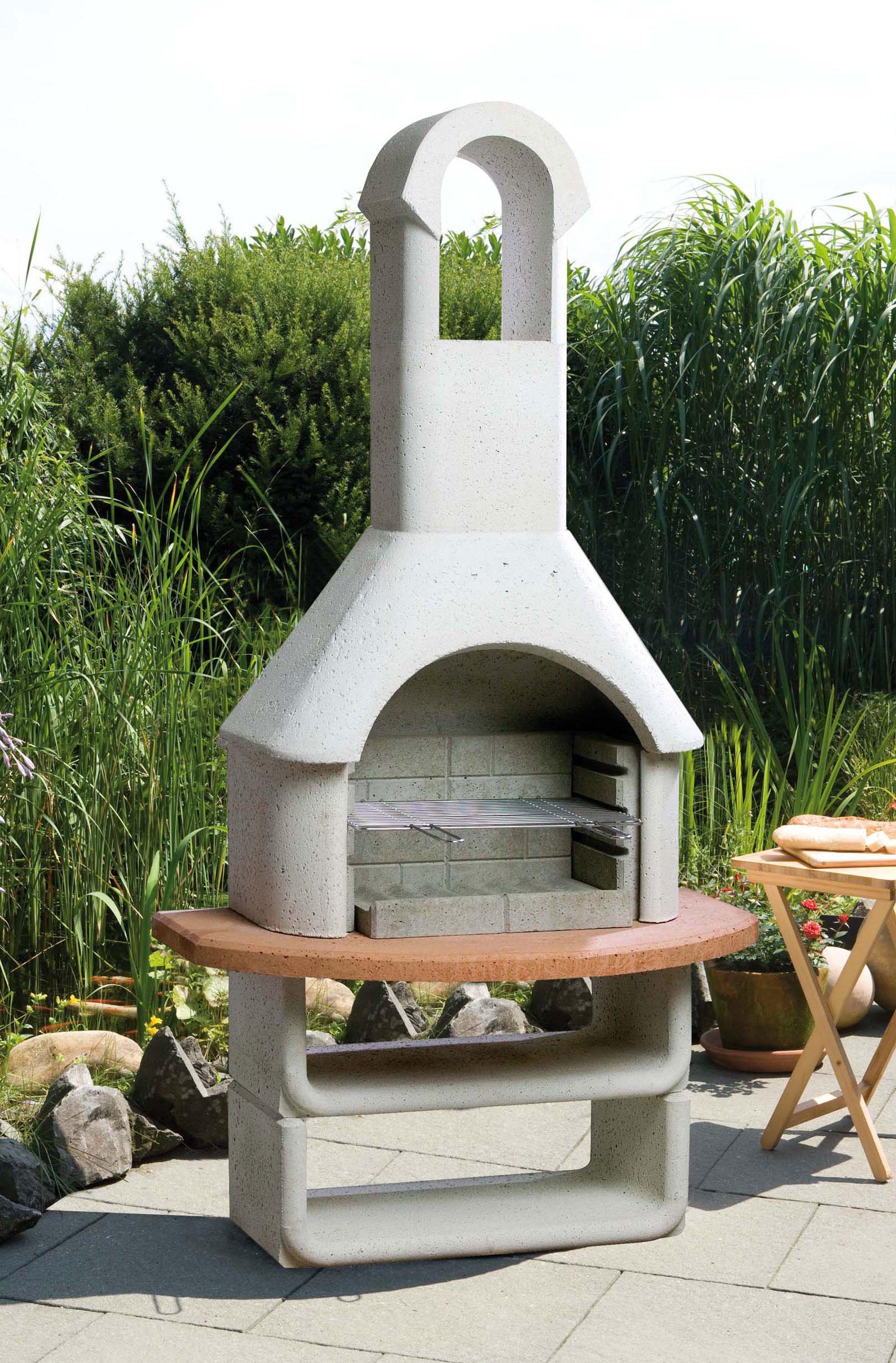 gartenkamin grillkamin buschbeck las palmas 110x65x206cm bei. Black Bedroom Furniture Sets. Home Design Ideas