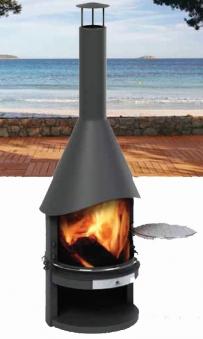 Grillkamin / Gartenkamin asado Fuego Stahl fahrbar Ø70cm Bild 1