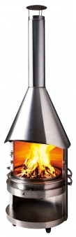 Grillkamin / Gartenkamin asado Gran Fuego ES mit Edelstahlhaube Bild 1