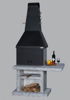 Wellfire Gartenkamin / Grillkamin Party Quatro 4 in1 weiß Stahl 215cm Bild 3