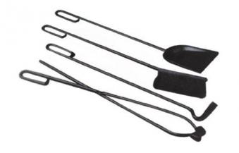 Wellfire Grillbesteck / Grill-Set 4-teilig schwarz