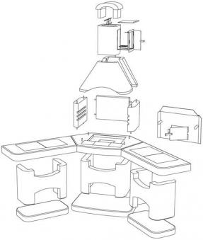 Wellfire Grillkamin / Außenküche Nova Quatro Eckversion weiß je 188cm Bild 2