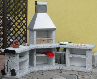 Wellfire Grillkamin / Außenküche Toskana Edelstahlh. Eckversion 188cm Bild 1