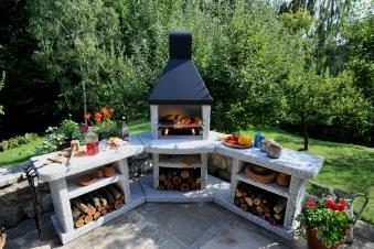 Wellfire Grillkamin / Außenküche Toskana Quatro Eckversion je 188cm Bild 3