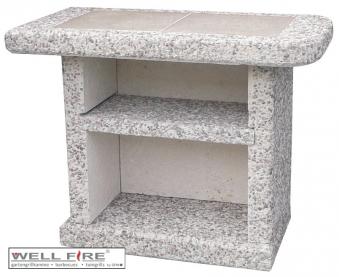 Wellfire Beistelltisch für Grillkamin Toskana grau / weiß Bild 1
