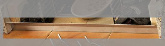 Wellfire Schutzschild Edelstahl für Wellfire Grillkamin 50x6x8cm Bild 2