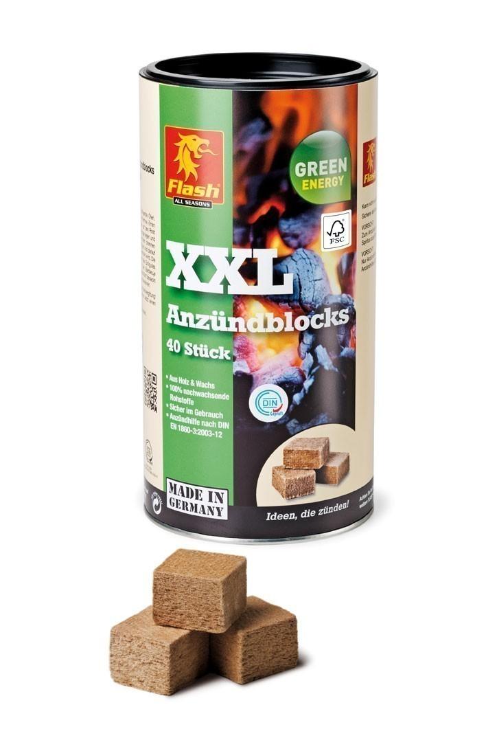 Grillanzünder / Kamin Anzünder Flash Holz & Wachs XXL 40er Dose Bild 1