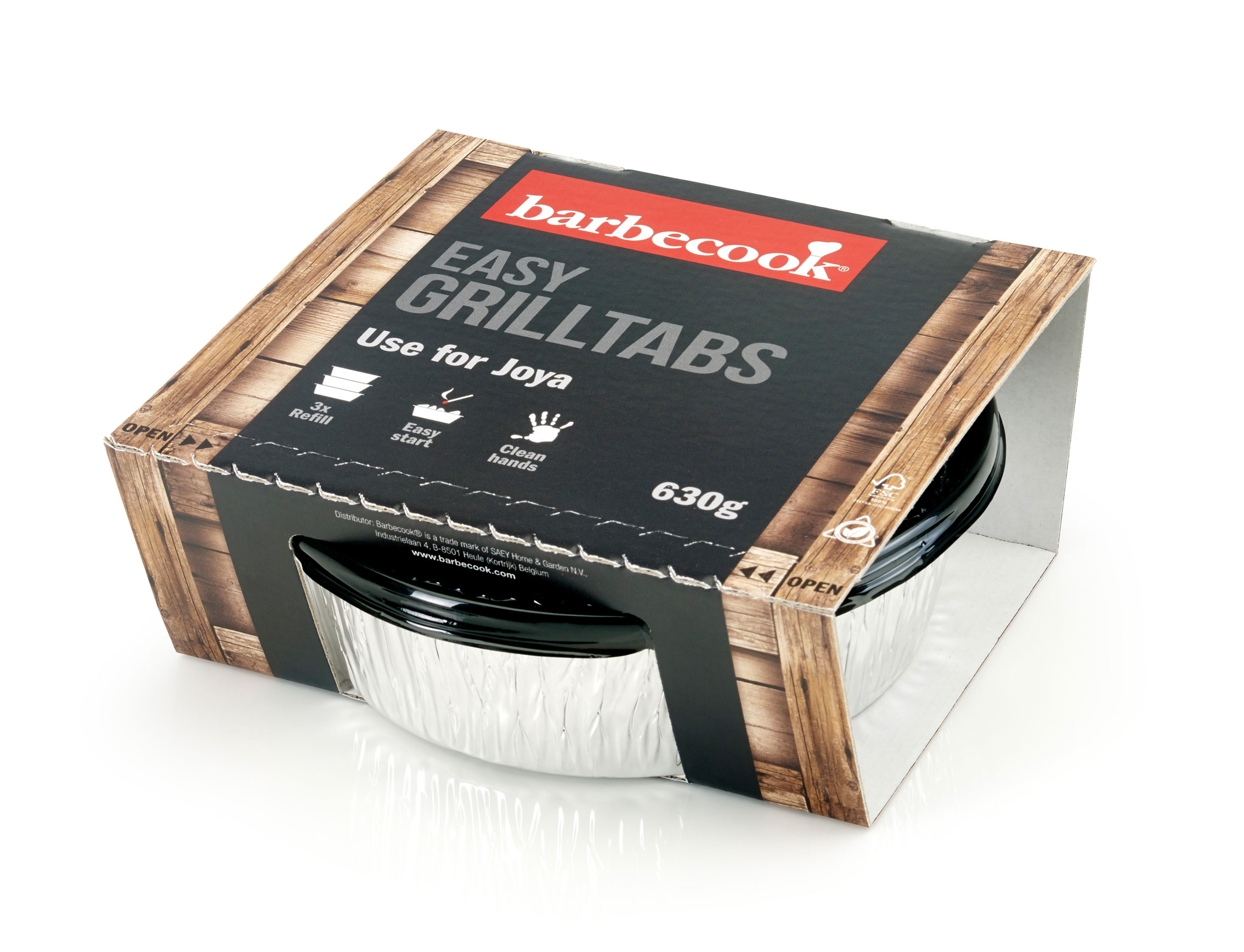 Grilltabs barbecook 3er Set je 650g für Joya und Amica Bild 2