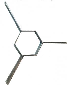 Abstandshalter Stahl für Feuerplatten 800 Freiluftküche Bild 1