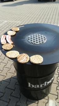 Feuerplatte, Grillplatte, Grillring, Plancha für Stahltonne 80 Bild 2