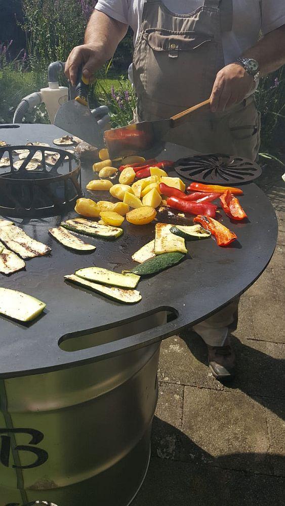 Feuerplatte, Plancha, Grillplatte für Feuerstellen und Fässer 800 Bild 3