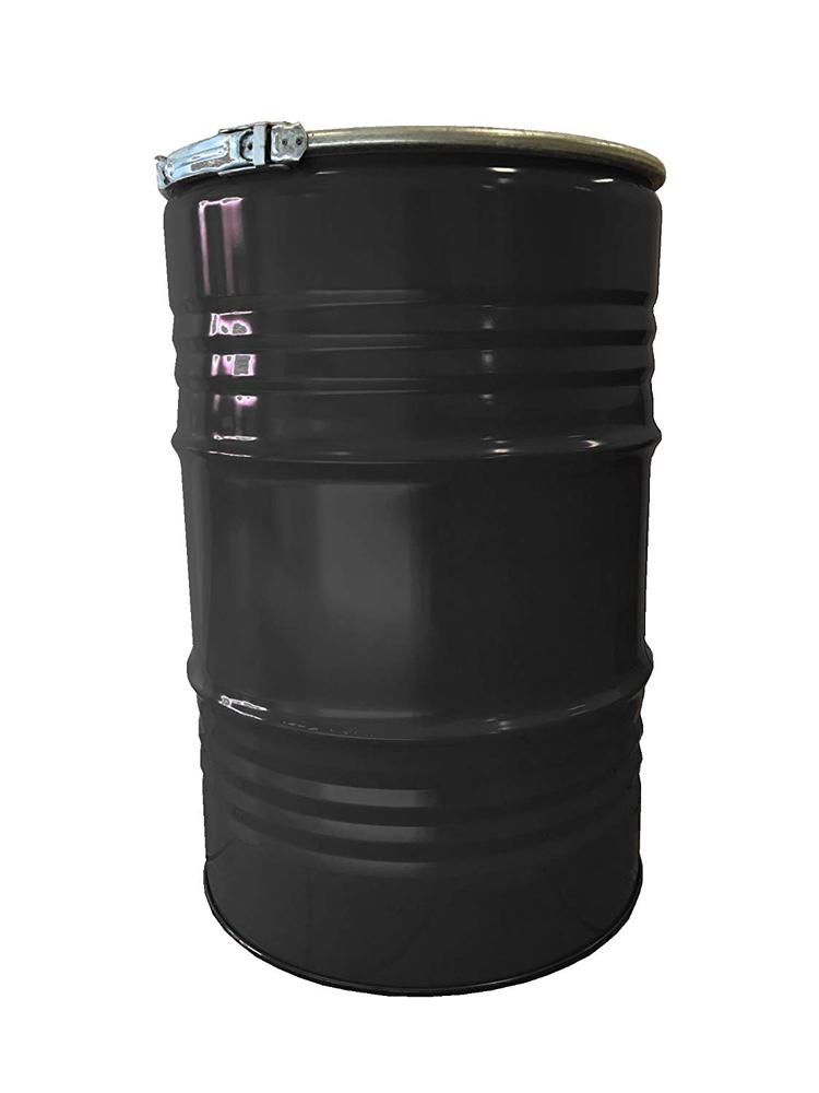 Feuertonne mit Deckel Metall lackiert schwarz 213 Liter Bild 1