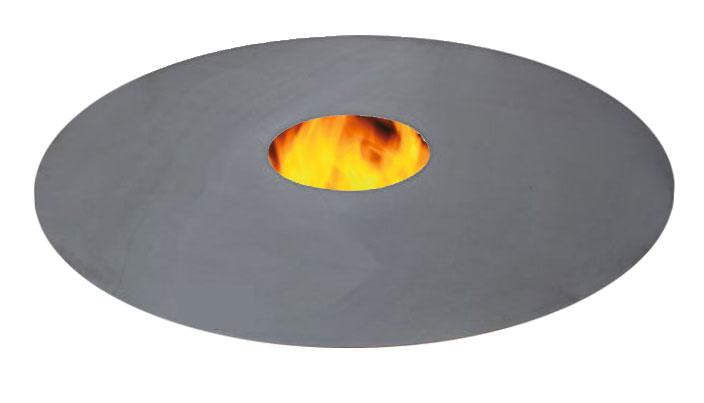 Grillplatte für Feuertonne und Kugelgrill - Feuerplatte Grill Plancha Bild 1