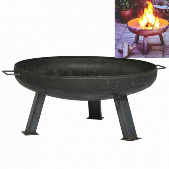 Feuerschale Terrassenfeuer, Gartenfeuer, Feuerkorb, Feuerstelle 60 cmØ