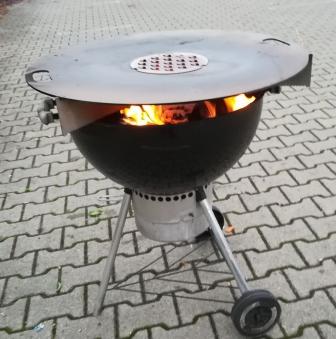 Grillplatte für Feuertonne und Kugelgrill - Feuerplatte Grill Plancha Bild 3