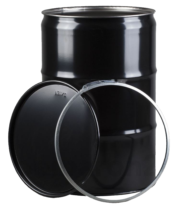 Grilltonne mit Feuerplatte Metall lackiert schwarz 213 Liter Bild 2