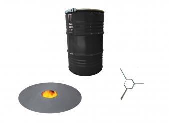 Grilltonne mit Feuerplatte Metall lackiert schwarz 213 Liter Bild 1