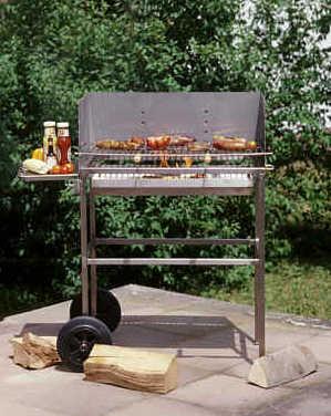 edelstahl holzkohlegrill grillwagen multi kulti grill bei. Black Bedroom Furniture Sets. Home Design Ideas