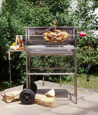Edelstahl holzkohlegrill grillwagen multi kulti grill for Edelstahl holzkohlegrill