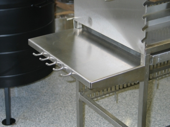 Edelstahl Seitenablage für Holzkohlegrill / Multi-Kulti Grill