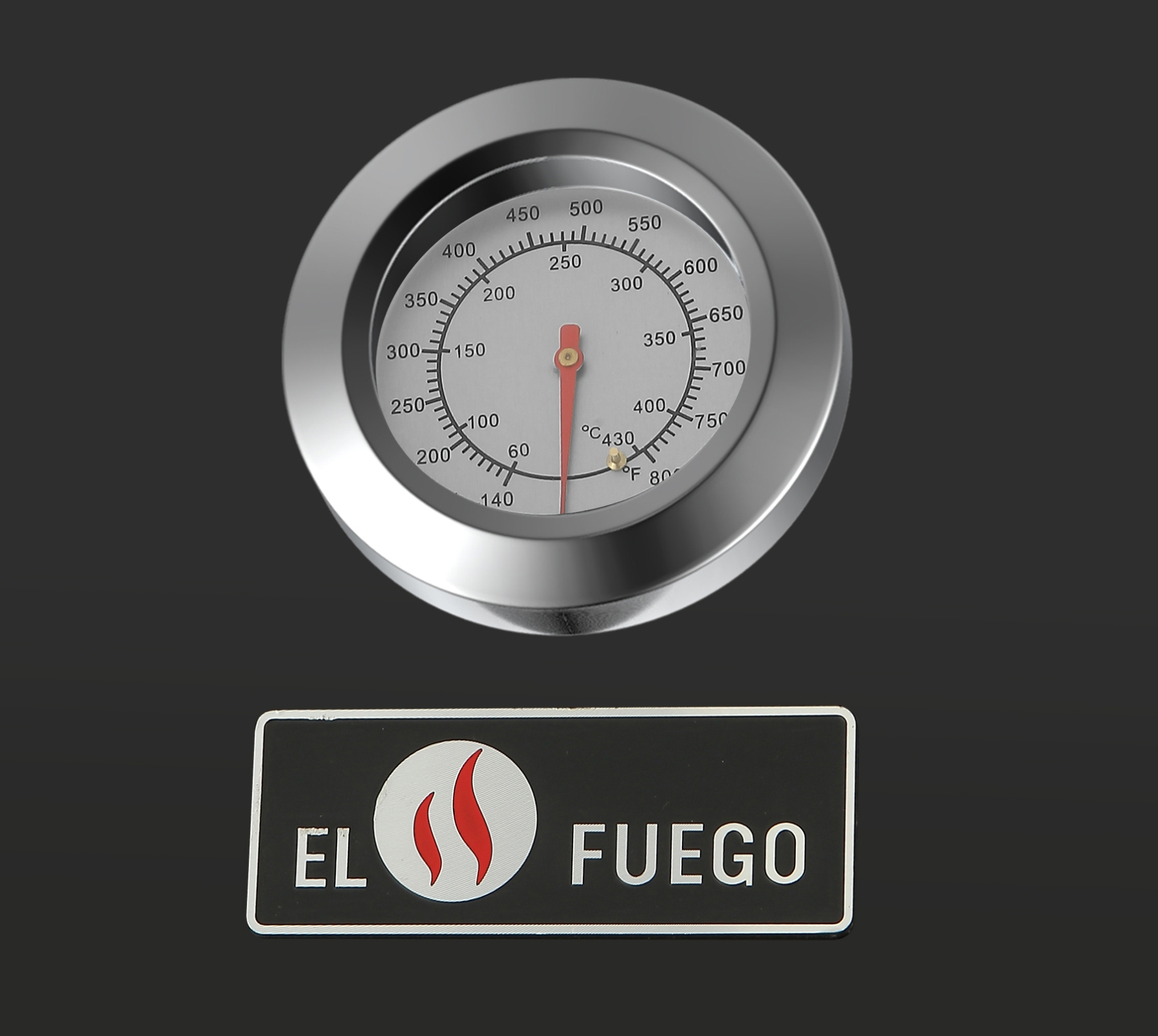 El Fuego Gasgrill / Grillwagen Brookline 3+1 Grillfläche 60x42cm Bild 8