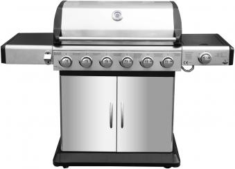 El Fuego Gasgrill / Grillwagen Deluxe 6+1 Grillfläche 80x41cm Bild 1