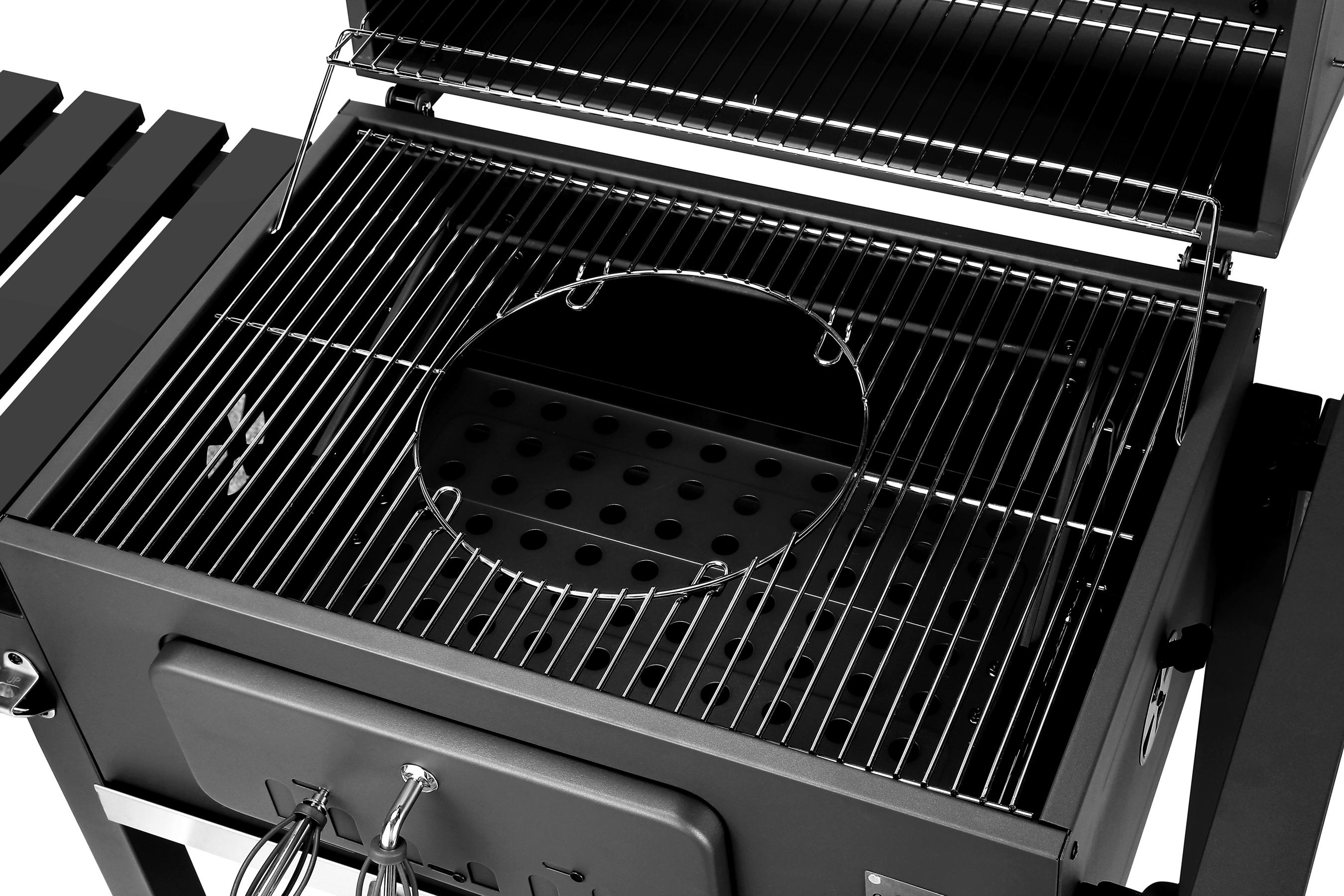 El Fuego Holzkohlegrill Ontario XXL Grillfläche 71,5x46cm Bild 6