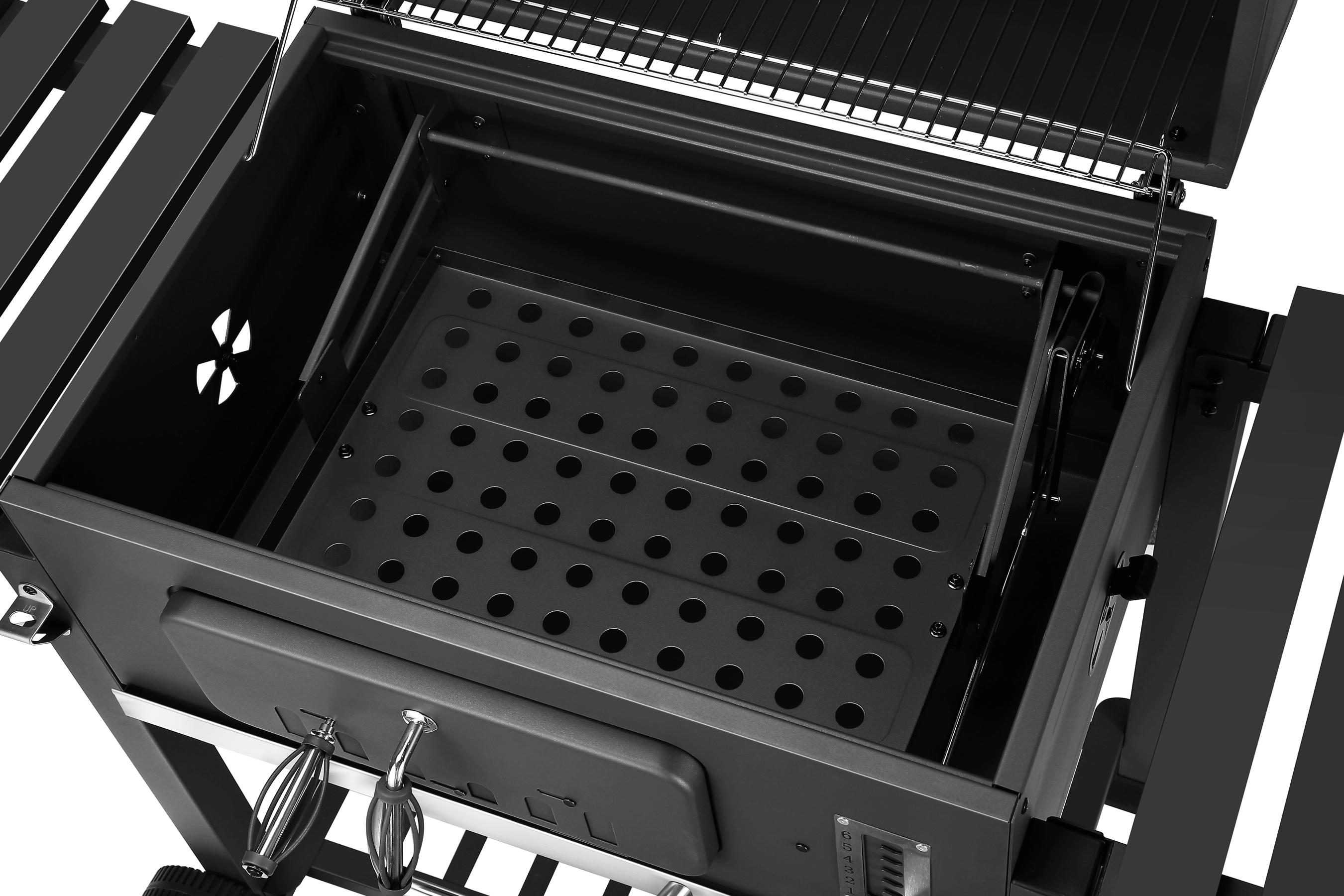 El Fuego Holzkohlegrill Ontario XXL Grillfläche 71,5x46cm Bild 7