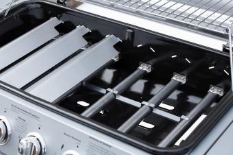 Gasgrill / Grillwagen El Fuego Dayton 4+1 silber Grillfläche 64x35cm Bild 7