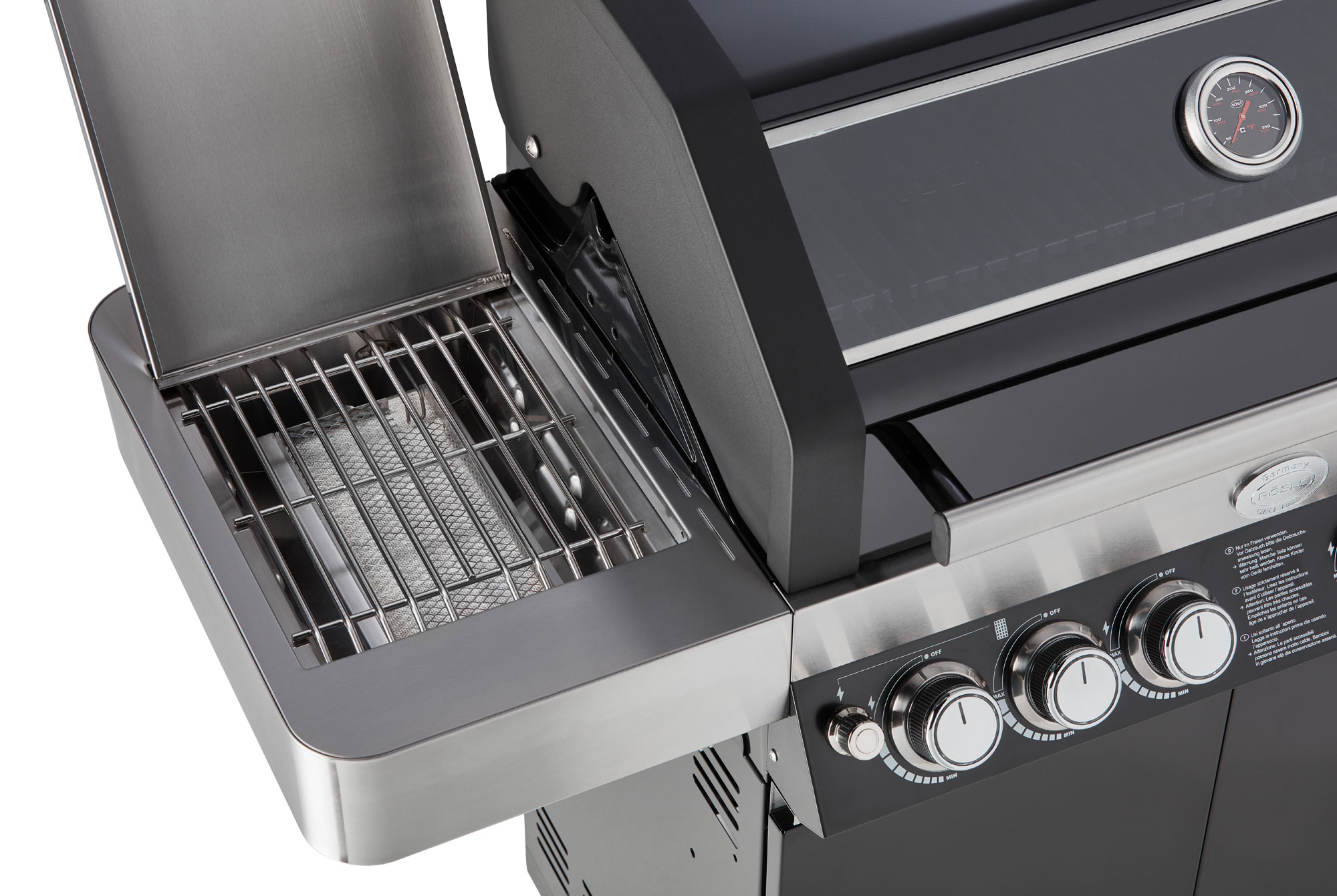 Rösle Gasgrill Hersteller : Gasgrill grillwagen rösle bbq station videro g4 s schwarz mit