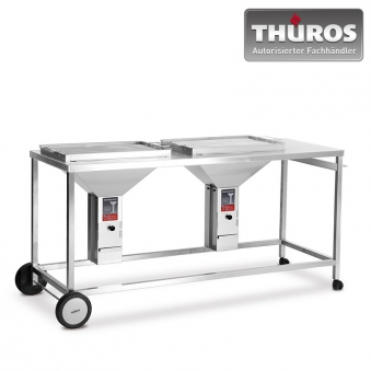 THÜROS Duo Grillstation fahrbar 2 x 40x60cm Edelstahl Bild 1