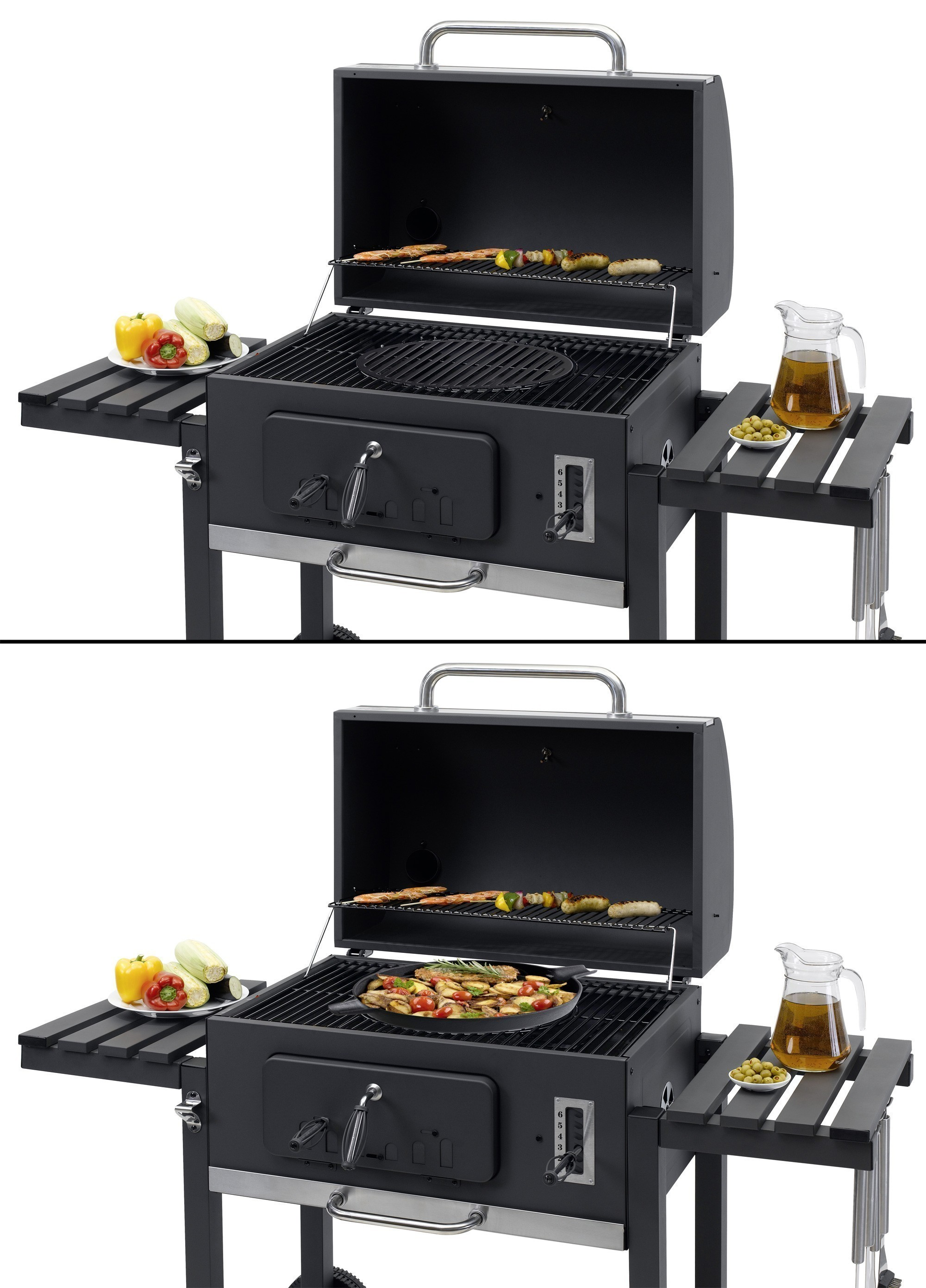 tepro holkohlegrill grillwagen toronto xxl grillfl che 71x46cm bei. Black Bedroom Furniture Sets. Home Design Ideas