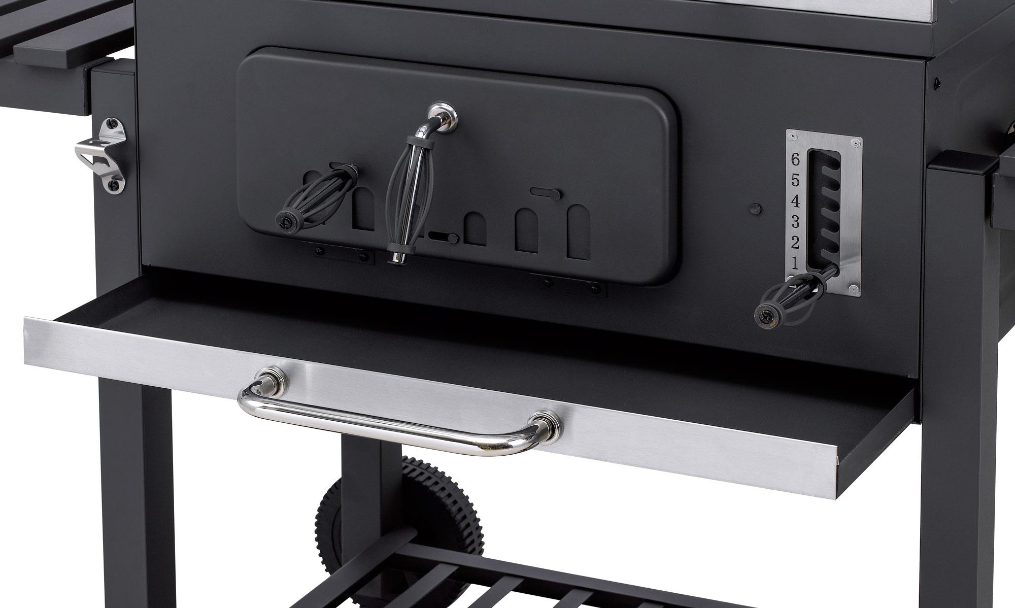 Tepro Toronto Holzkohlegrill Mit Grillrosteinsatz : Tepro holzkohlegrill grillwagen toronto click grillfläche