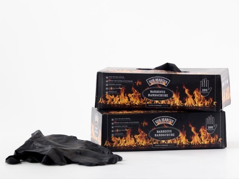 Don Marco´s Barbecue Handschuhe Latex Größe L schwarz 100 Stück Bild 2