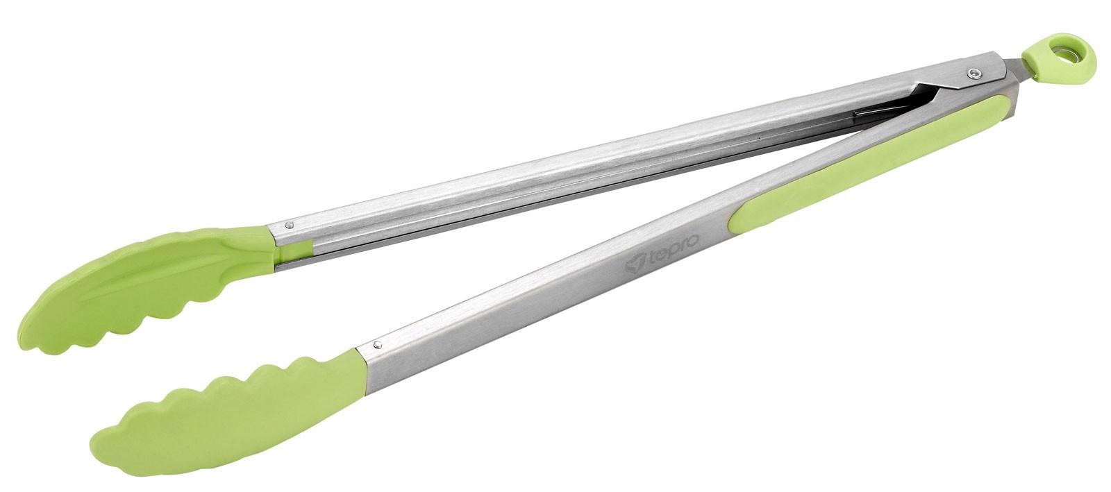 Grillzange Tepro Edelstahl / Silikon grün Länge 40 cm Bild 1