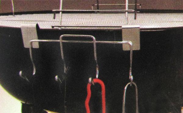 Grillzubehör Halter mit 4 Haken B 17 cm Bild 2