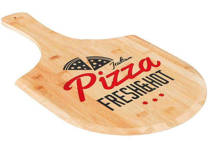 Pizzabrett mit Griff Bambus Größe 53,5x30,5cm Bild 1
