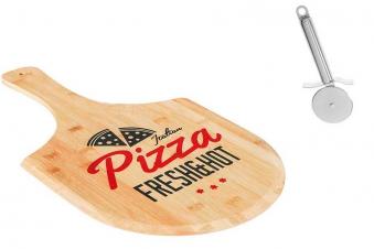 Pizzabrett mit Pizzaschneider Set Bild 1