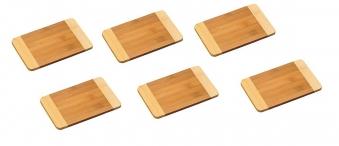 Schneidbrett Bambus 23x15x1cm 6er Set Bild 1