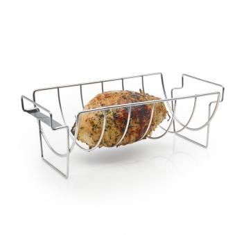 Spare Rib Halter / Bratenkorb barbecook Edelstahl Bild 2